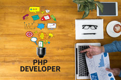 PHP DEVELOPER Stock Photography