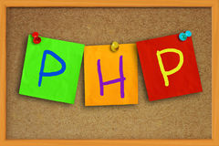 PHP Internet Concept Royalty Free Stock Photos