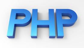 PHP językowy kod 3D Zdjęcia Stock
