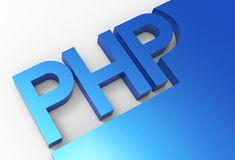 PHP language code 3D Royalty Free Stock Photos