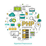 PHP line art concept Stock Images