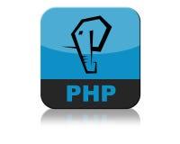 Php loga ikony zakładka Zdjęcie Royalty Free