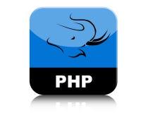 Php loga ikony zakładka Zdjęcia Royalty Free