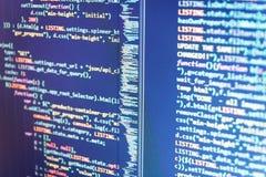 PHP ontwikkeling, softwaresitecode Het abstracte proces van de het elementen Abstracte software van de concepten grafische techno royalty-vrije stock fotografie