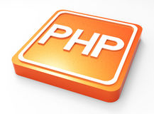 PHP Programming button 3D Royalty Free Stock Photography