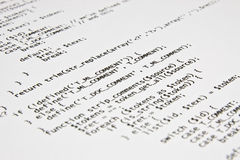Php programming code print Royalty Free Stock Photos