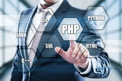 PHP Programming Language Web Development Coding Concept.  Royalty Free Stock Images