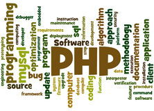 PHP programming, word cloud concept 5 Stock Images
