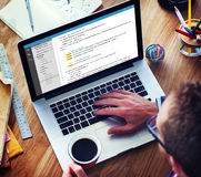 PHP que programa o conceito do Cyberspace da codificação do HTML imagem de stock