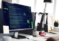 PHP que programa o conceito do Cyberspace da codificação do HTML imagens de stock royalty free