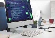 PHP que programa o conceito do Cyberspace da codificação do HTML fotografia de stock royalty free