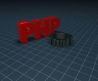 Php tag and cogwheel Royalty Free Stock Photography