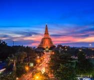 Phra在日落的Pathom Chedi,泰国 库存图片