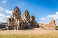 Phra普朗山姆Yot寺庙,古老建筑学 图库摄影