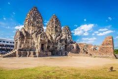 Phra普朗山姆Yot寺庙,古老建筑学 免版税库存图片