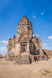 Phra普朗山姆Yot寺庙,古老建筑学 免版税图库摄影