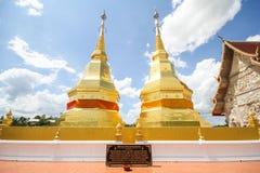 Phra玛哈下巴thar jao montol sala寺庙,南奔泰国 免版税库存图片