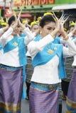 Phra的礼节沐浴的仪式那骇黎朋猜Chedi 库存图片