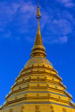 Phra金黄stupa土井素贴寺庙,清迈, Thailan 库存图片