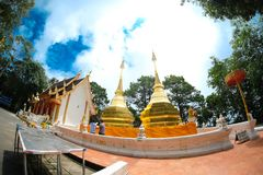 Phra που ναός Doi Thung, επαρχία Chiangrai, Ταϊλάνδη Στοκ Εικόνες