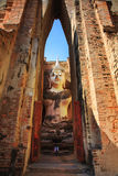 Phra Achana in Wat Si Chum at Sukhothai Historical park Royalty Free Stock Images