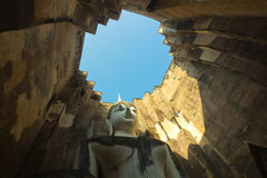 Phra Ajana at Wat Si Chum ,Sukhothai Historical Park, Thailand Stock Images