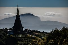 Phra That Doi Inthanon royalty free stock photography