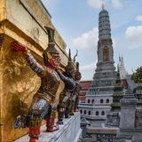 Phra Borom Maha Ratcha Wang, Grand Palace in Bangkok royalty free stock photos