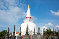 Phra Boromathat Chedi of Phra die Nakhon-Pagode Stock Afbeeldingen