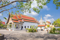 At Phra Borommathat Chaiya Worawihan, an ancient temple at Chaiya district,Surat Thani province, South of Thailand. Royalty Free Stock Images