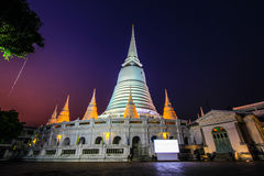 Phra Borommathat Maha Chedi of Wat Prayurawongsawas Worawiharn. Wat Prayurawongsawas Worawiharn is a Buddhist temple in Thonburi,Bangkok,Thailand.It has the Stock Image