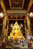 Phra Buddha Chinnarat Arkivfoto