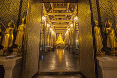 Phra Buddha Chinnarat is the most beautiful and the large bronze Royalty Free Stock Photos
