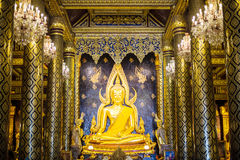 The Phra Buddha Chinnarat in Thailand. Phra Buddha Chinnarat at Phra Si Rattana Mahathat temple ,Phitsanulok Province, Thailand Royalty Free Stock Photos