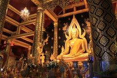 Phra Buddha Chinnarat Wat Phra Si Rattana Mahathat. Phitsanulok, Thailand, where it is located on the bank of the Nan River near the Naresuan Bridge Royalty Free Stock Photo