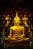 Image of Buddha (Phra buddha chinnasri). A Buddha image in Thailand typically refers to three-dimensional stone, wood, clay, or metal cast images of the Buddha Royalty Free Stock Images