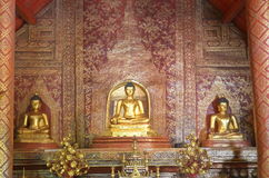 Phra Buddha Si Hing in the temple Royalty Free Stock Image