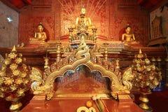 Phra Buddha Sihing statue inside Wihan Lai Kham. Wihan Lai Kham is in Wat Phra Singh Woramahaviharn,a Buddhist temple at the end of the Rachadamnoen road in Stock Images