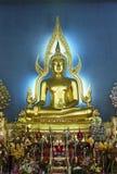 Phra Buddhajinaraja. Is the main Buddha of the Uposatha Hall. The image is a replica of  at Wat Phra Sri Ratana Maha Dhatu, Phitsanulok province. The image is Royalty Free Stock Photography