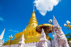 Phra That Chae Haeng Temple is a favourite destination Royalty Free Stock Photography