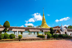 Phra That Chae Haeng Temple is a favourite destination in Nan province Royalty Free Stock Image