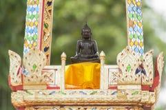 Phra chai meuang nakhonratchasima. Statue of buddha ancient ayutthaya period,nakhon ratchasima province, thailand,selective focus,blur background Royalty Free Stock Photo