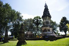Phra dat Kong Khao Noi een oude stupa of een Chedi in Yasothon, Thailand is royalty-vrije stock foto's