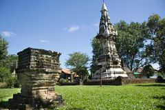 Phra dat Kong Khao Noi een oude stupa of een Chedi in Yasothon, Thailand is royalty-vrije stock afbeelding
