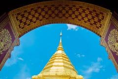 Phra de Wat que Doi Suthep, templo Chiang Mai Province Imágenes de archivo libres de regalías