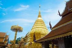 Phra de Wat que Doi Suthep, templo Province-2 NEF Fotos de archivo libres de regalías