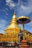 Phra de Wat que hariphunchai Fotos de Stock