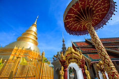 Phra de Wat que o hariphunchai era uma medida do Lamphun Imagens de Stock Royalty Free