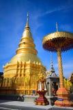 Phra de Wat qui hariphunchai Images libres de droits