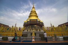Phra di Wat che hariphunchai Immagini Stock